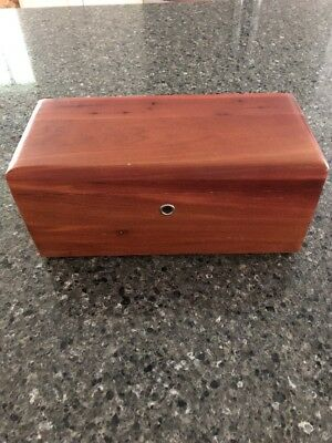 Vintage  Lane Cedar Chest Miniature Trinket Box Edwards Furniture Mankato Mn 9""