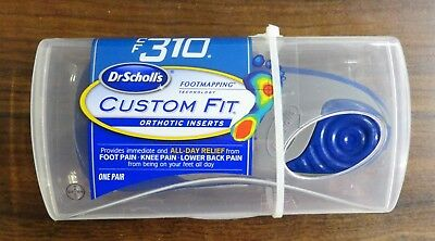Dr Scholls Custom Fit Orthotic Inserts CF310 Brand New Sealed (One Pair)