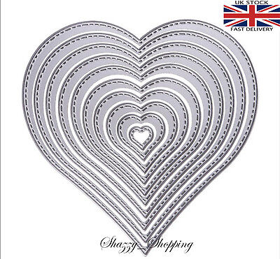 Heart Nesting Dies metal cutting die cutter set 10 dies stencil Embossing DIY T1 Other Die Cutting & Embossing
