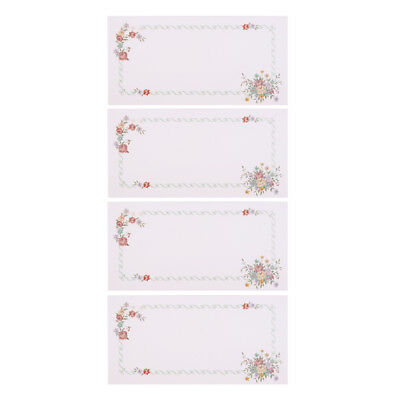 4Pcs Wedding Favor Envelopes Metallic Pearl Flower Pattern Embossed Envelope