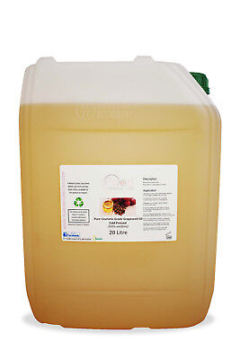 Grapeseed Oil, 100% Pure, Cold Pressed, Cosmetic Grade Carrier Oil 20 litres