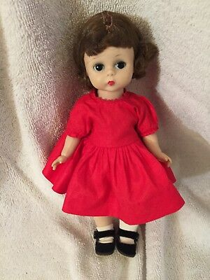 Lovely Vintage 1950s Madame Alexander Kins BKW Doll Triple Stitch Wig Tagged OF