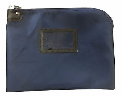 NEW Locking Document Security HIPAA Bag 11 x 15 Navy Blue FREE SHIPPING