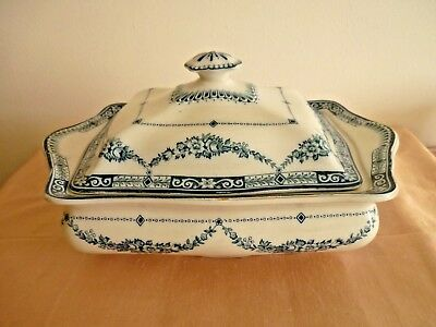 A Vintage Blue And White Tureen With Lid - Royal Corona Ware Alexandra