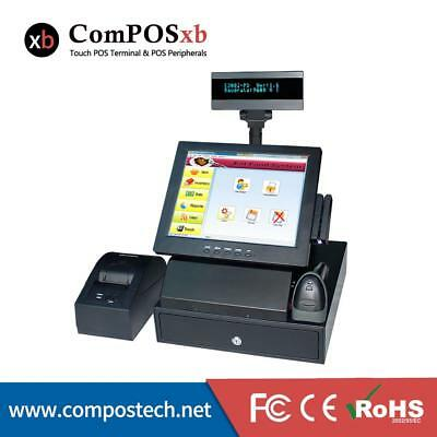 New Design 12 Inch Point of Sale 5-wire Touch Screen Cashier Machine