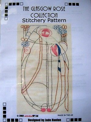 The Glasgow Rose Collection Stitchery Pattern & Pre Printed Fabric - Art Nouveau