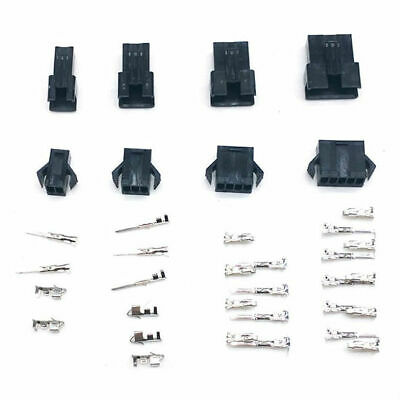 JST SM 2.5mm Connector 10 Sets (2-12 Pin) Male & Female Housing + Crimps