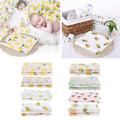 Baby Kids Swaddling Blanket Soft Muslin Newborn Infant 100% Cotton Swaddle Towel