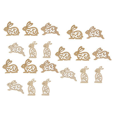 20pcs 100mm Natural Rabbit Shape Star Embellishment Pieces for DIY Gift Tags