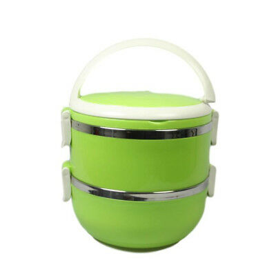 Plastic Stainless Steel Insulated Casserole Food Warmer Storage Lunch Box Dish