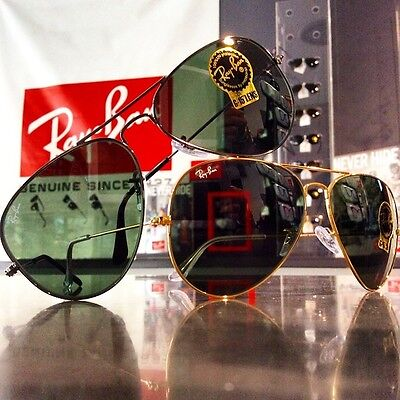 Ray-ban 0RB3025 aviator US genuine Ray ban made in Italy glass lens RB 3025