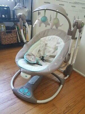 InGenuity Unisex Baby Swing w/ Washable Toys & Fabric