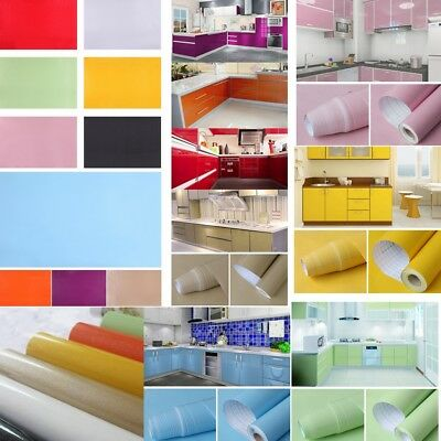 1 Roll PVC Vinyl Film Self Adhesive Wall Stickers Kitchen Furniture Home Decor