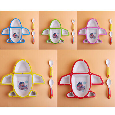 Bamboo Children's cutlery Set baby food supplement plate, spoon and Fork