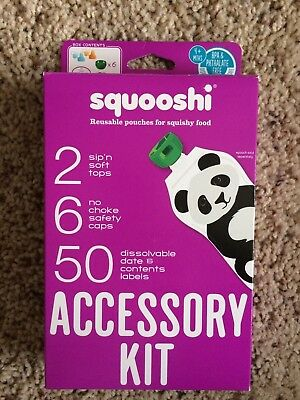 Squooshi Accessory Kit - Reusable food pouches