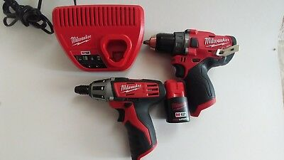 milwaukee m12 2504-20 hammer drill plus 2401-20 drill driver