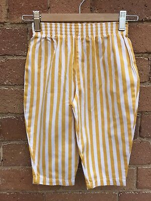 Cute Vintage 80s 90s Sunny Striped Trousets 12/18m