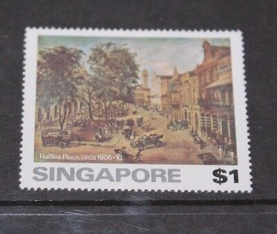 Singapore 1976 $1.00 Old Painting Of Singapore Issue  Fine Mint  M//n/h