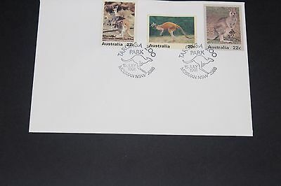 Aust 1981 Scarce Taronga Park Zoo Souvenir Cover Kangaro With 2 Zoo Cinderelas