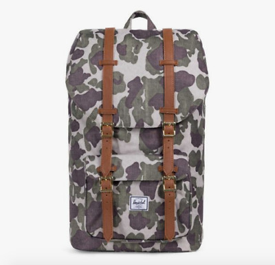 b116f685d20 Herschel Supply Co. Little America Backpack in Frog Camo Tan NWT Free  Shipping