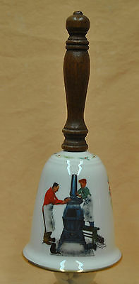 Coal Season's Coming Norman Rockwell China Bell by Gorham 1982