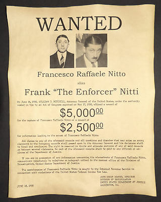Capone Aides Indicted Fraud Frank Enforcer Nitti Kills Himself March 20 1943 B8 Mobs, Gangsters & Criminals