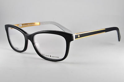 Kate Spade Eyeglasses ANGELISA 0S0T Black White, Size 51-15-135