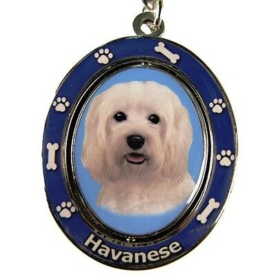 Havanese Dog Spinning Key Chain Fob