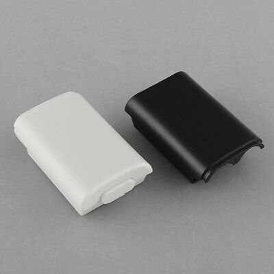 New Battery Pack Cover Shell Case for Xbox 360 Controller 2 Color White/Black