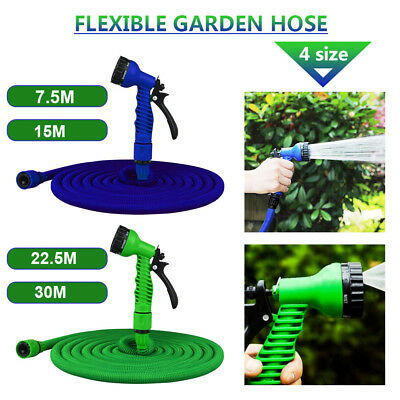 7IN1 Expanding Expandable Flexible Garden Water Hose Pipe with Spray Nozzle Gun