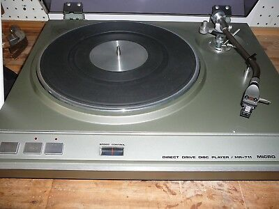 Micro Direct Drive Disc Turntable MR-711and Tone Arm