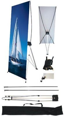 """Wall26 24"""" x 63"""" X Banner Stand For Trade Show/Store Display 1PCS Stand Only"""
