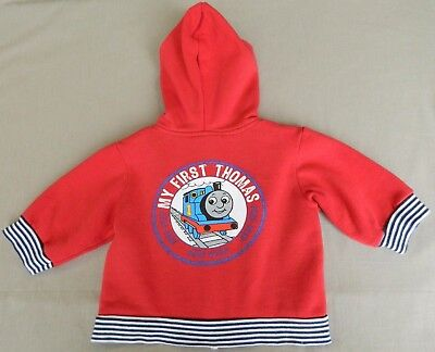 THOMAS THE TANK ENGINE Baby Boys Hoodie Size 00 3-6m Red