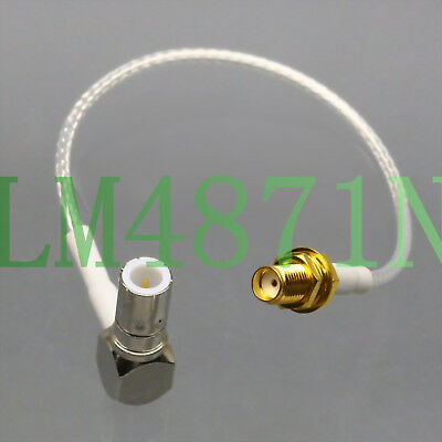 "Quick Push-Pull Slide BNC/TNC Plug to SMA Jack RG316 6"" Oscilloscope Test Cable"