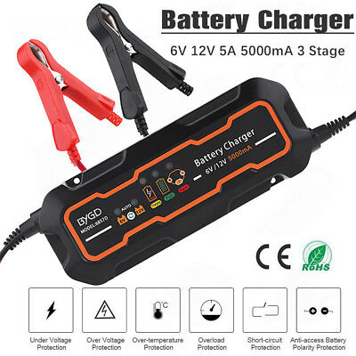 12V 5A Smart Lead acid Battery Charger Maintainer Tender Trickle Float Chargers