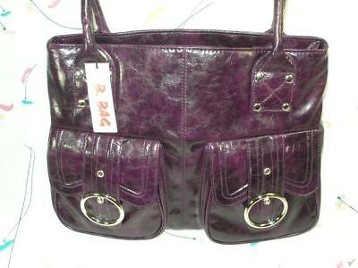a36692fcdb34 PURSE PURPLE HAND BAG SHOULDER BAG MADE by B BAG BY BARGANZA NEW WITH TAGS