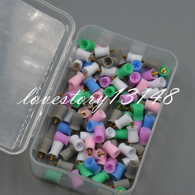 100X Dental Polishing Cup Prophy Prophylaxis Cups Screw On Type Rubber Polisher