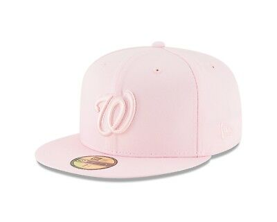 Washington Nationals New Era Tonal Pastel Pink Fitted 59Fifty MLB Hat 1 ... d8e6beca16a2