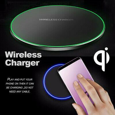 Qi Wireless Charger Pad Fast Cordless For iPhone XS X Samsung Note 9 S8 S9 Plus