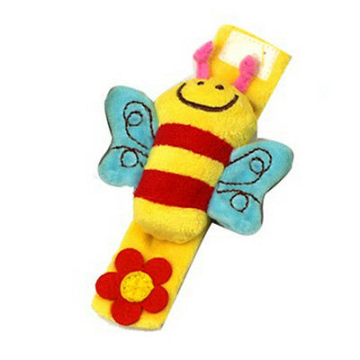 Worthwhile Lovely Soft Baby Wrist Rattle Toy Hands Finder Bee & Sheep   O