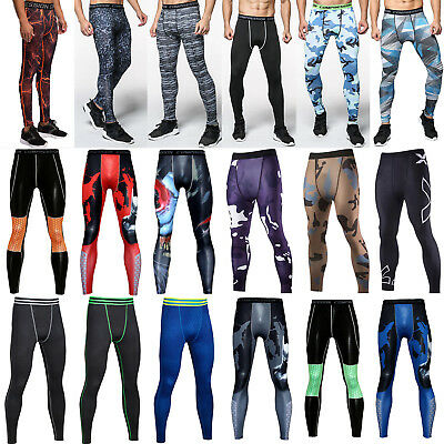 Men Fitness Jogger Pants Tight Compression Base Layer GYM Sport Workout Leggings