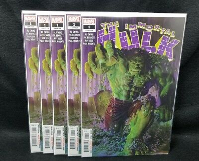 The Immortal Hulk #1 (08/18) (5 Copies) NM New Series HOT! Avengers
