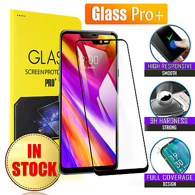 Full Coverage Tempered Glass LCD Screen Protector Guard For LG G7 / G7 ThinQ