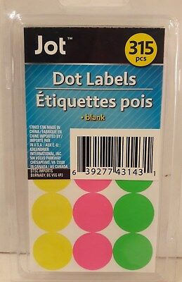 315 Neon Yard Garage Rummage Sale Price Tags Blank Sticker Label 3 Colors