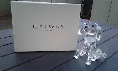 "Galway Living Crystal Dog Sitting Height 10cm (4"")  # IC18 Perfect condition"