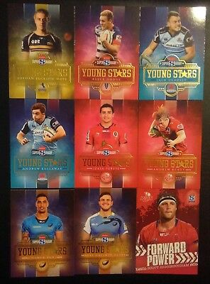 2017 Tap N Play Super Rugby Union 9 card insert lot