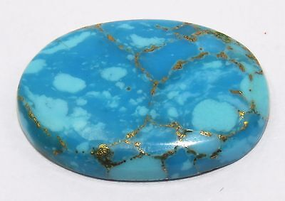 Certified Good & Natural Oval Shape 14.15 Ct Copper Turquoise Gemstone eBay
