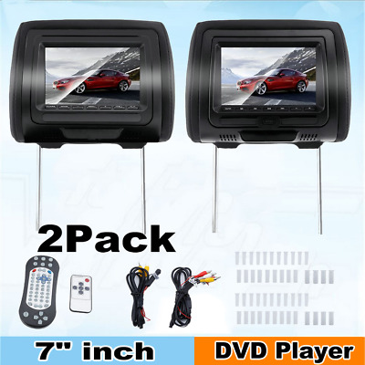 "NEW 7"" Car Headrest Monitors DVD Player/USB/HDMI FM Speakers +Games Controller"