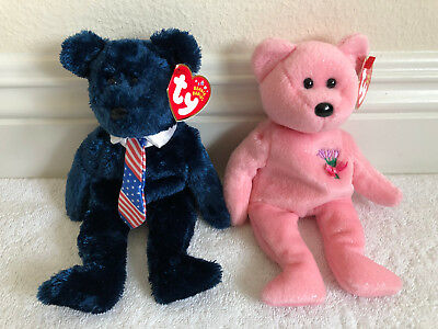 """TY """"POPS & MUM"""" Beanie Babies  RETIRED! MINT TAGS Attached! NEW! (Pop Tag Error)"""