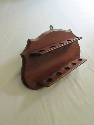 Rather Attractive Mahagony, Edwardian or Victorian Pipe Rack
